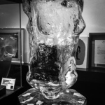 GLASS BUST LIFE SIZE, DOUBEL SIDES